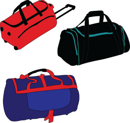 trolley case: travelling-bag collection - vector