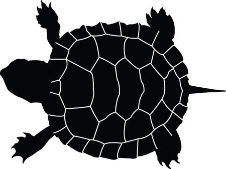 turtle silhouette - vector Illustration