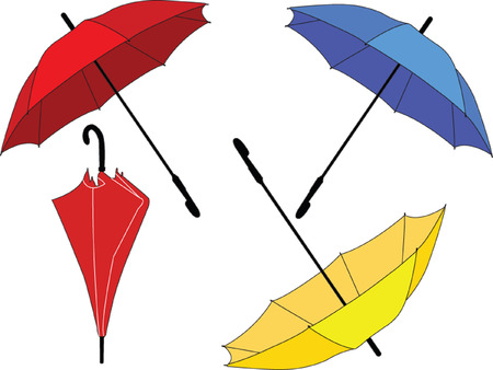 umbrella collection - vector Stock Vector - 5150058