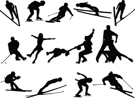 winter sport collection - vector Stock Vector - 5150065