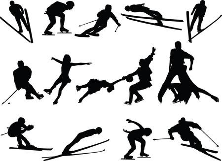 winter sport collection - vector Vector