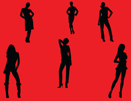 girls fashion with background - vector Vector