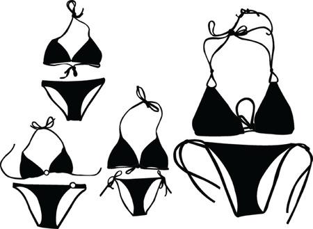 maillot de bain: Bikini - vecteur