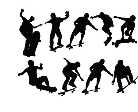 big skateboard collection - vector Vector