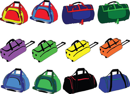 trolley case: traveling-bag collection - vector