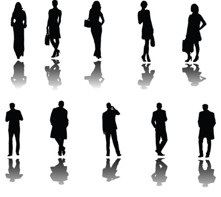 business people with shadow - vector Vector
