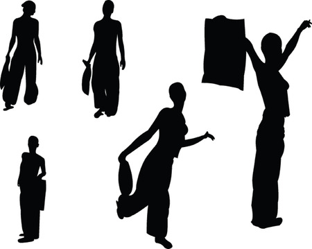 glamur: shopping women - vector Illustration