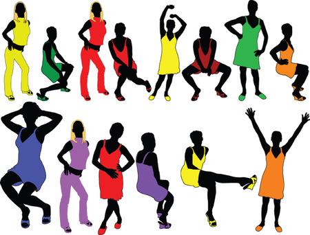 sexes: girl in happy color - vector