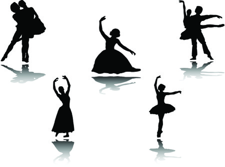 ballerinas collection with reflection Stock Vector - 5656100