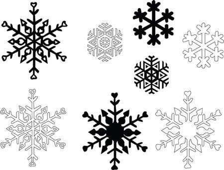 vectors abstract: copo de nieve - vector Vectores