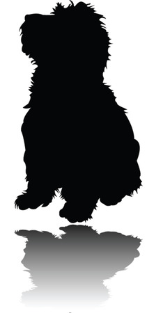 little puppy with shadow - vector Stock Vector - 5816778