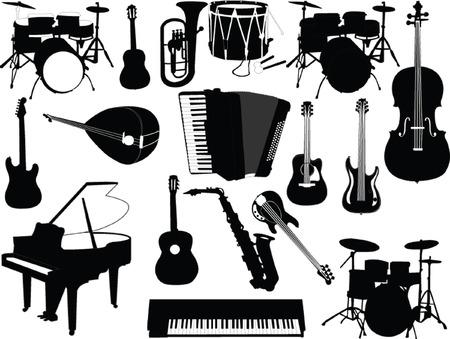 instrumentos musicales: colecci�n de instrumentos musicales - vector  Vectores