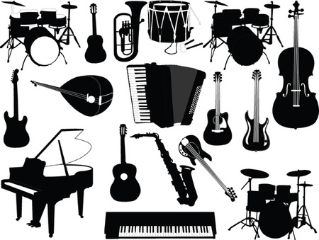 musical instruments collection - vector Vector