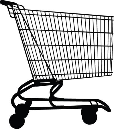 wagon for shopping - vector