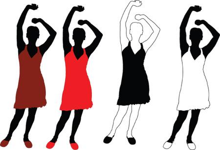sexes: girl - vector Illustration