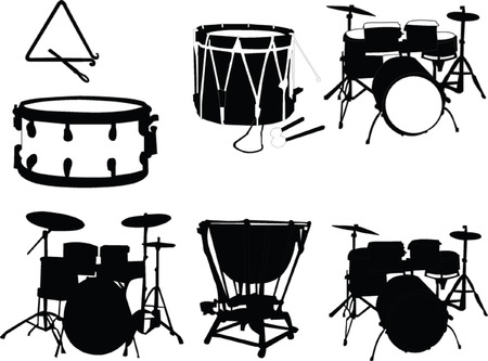 bongo drum: musical instrument - vector Illustration