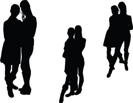 sexes: two grls - vector