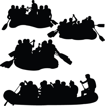 rowing boat: rowings collection - vector