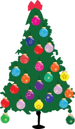 christmas tree 2 - vector Stock Vector - 6128529