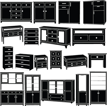 big dressers collection - vector Vector