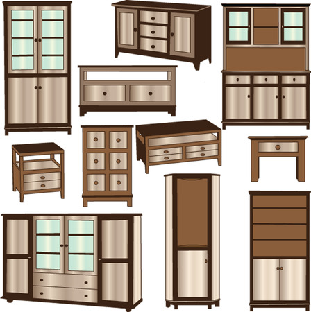 drawers: dressers - vector