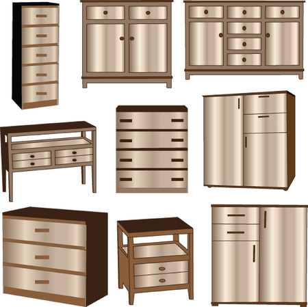 dressers collection - vector Vector