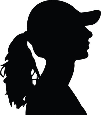 girl profile  Vector