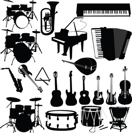 drum and bass: musical instruments