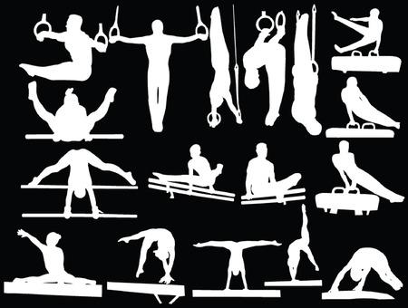 gymnastik: Gymnastik-Auflistung  Illustration
