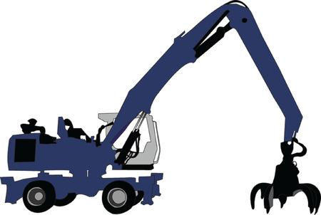 construction dozer: loader - vector Illustration
