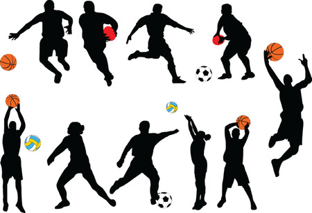 colección de deporte - vectoriales  Ilustración de vector