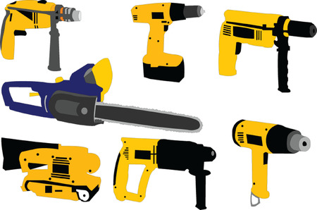 hand drill:  tools - vector