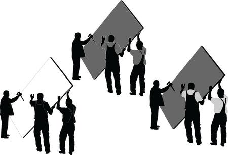 workers - vector