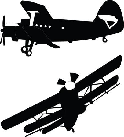 航空ショー: 飛行機 - ベクトル  イラスト・ベクター素材