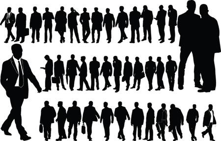 businessmen collection - vector Stock Vector - 8119160