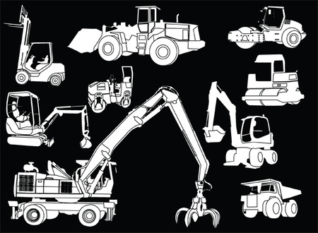 compactor: construction machines 2 - vector