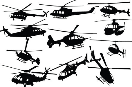 sikorsky: helicopters collection - vector