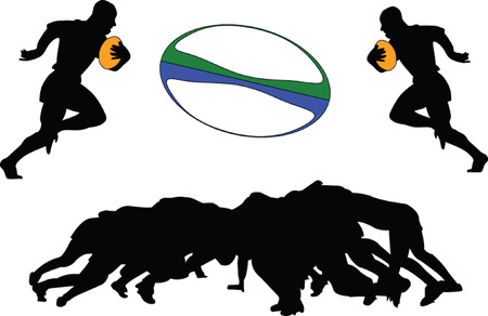 pelota rugby: Rugby 2 - vectoriales