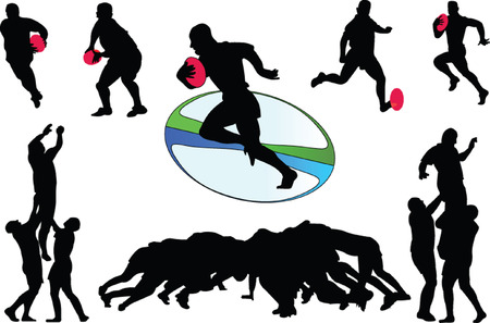rugby 3 - vector Stock Vector - 8243170