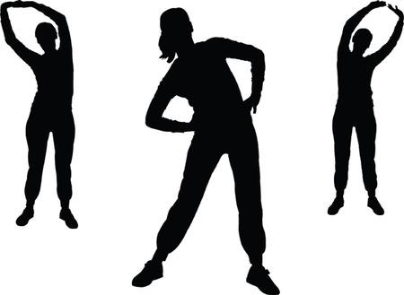 aerobics girl 2 - vector