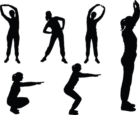 aerobics meisje 3 - vector Vector Illustratie