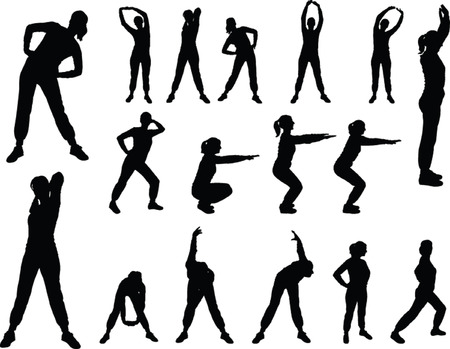 aerobics girl 4.eps - vector Vector