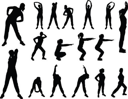 aerobics meisje 4. eps - vector