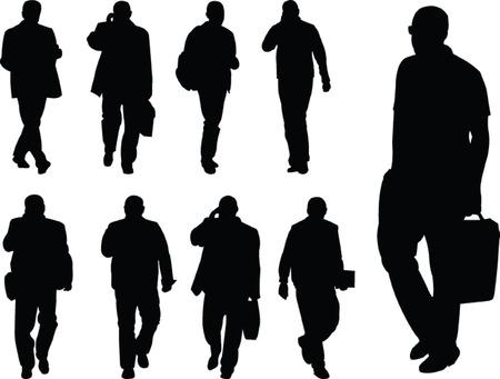business man collection - vector Stock Vector - 8243158