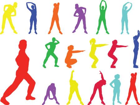 aerobics meisje 6 - vector
