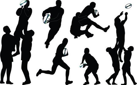 ballon de rugby: Rugby - vecteur