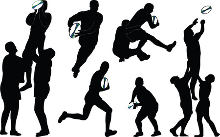 rugby ball: Rugby - vector