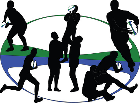 rugby 3 - vector Stock Vector - 8243200