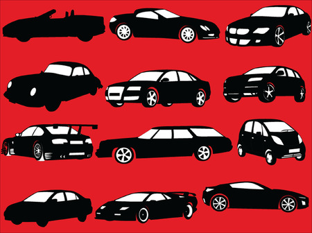 cabrio: cars collection - vector Illustration