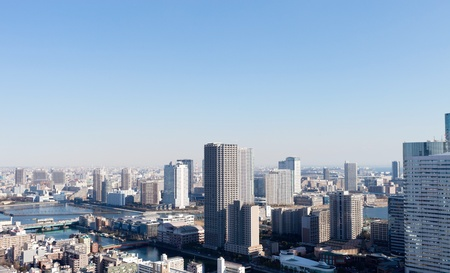 river scape: View of Tokyo
